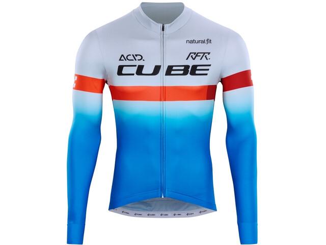 Cube Teamline LS Jersey Men, niebieski/biały